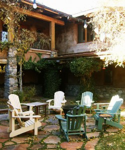 Relax in the private courtyard of El Portal Sedona Hotel