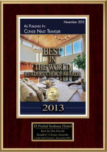 El Portal Sedona Hotel Conde Nast Readers Choice Award 2013