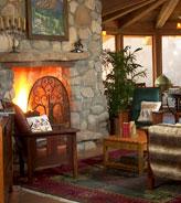 Cozy Fireplace in the Great Room of El Portal Sedona Hotel