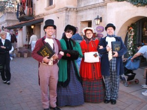 Carolers in Sedona's Tlaquepaque Arts & Crafts Village