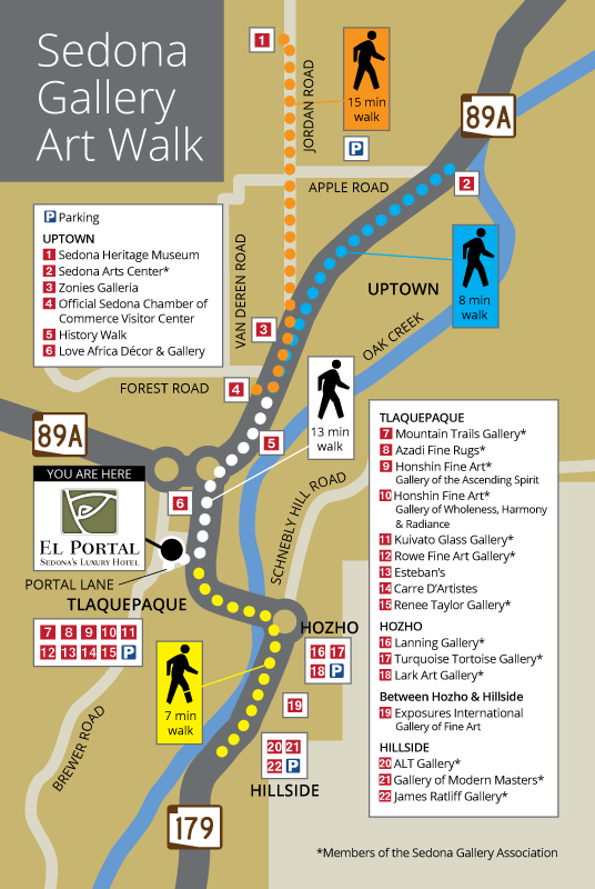 Sedona Galleries Art Walk