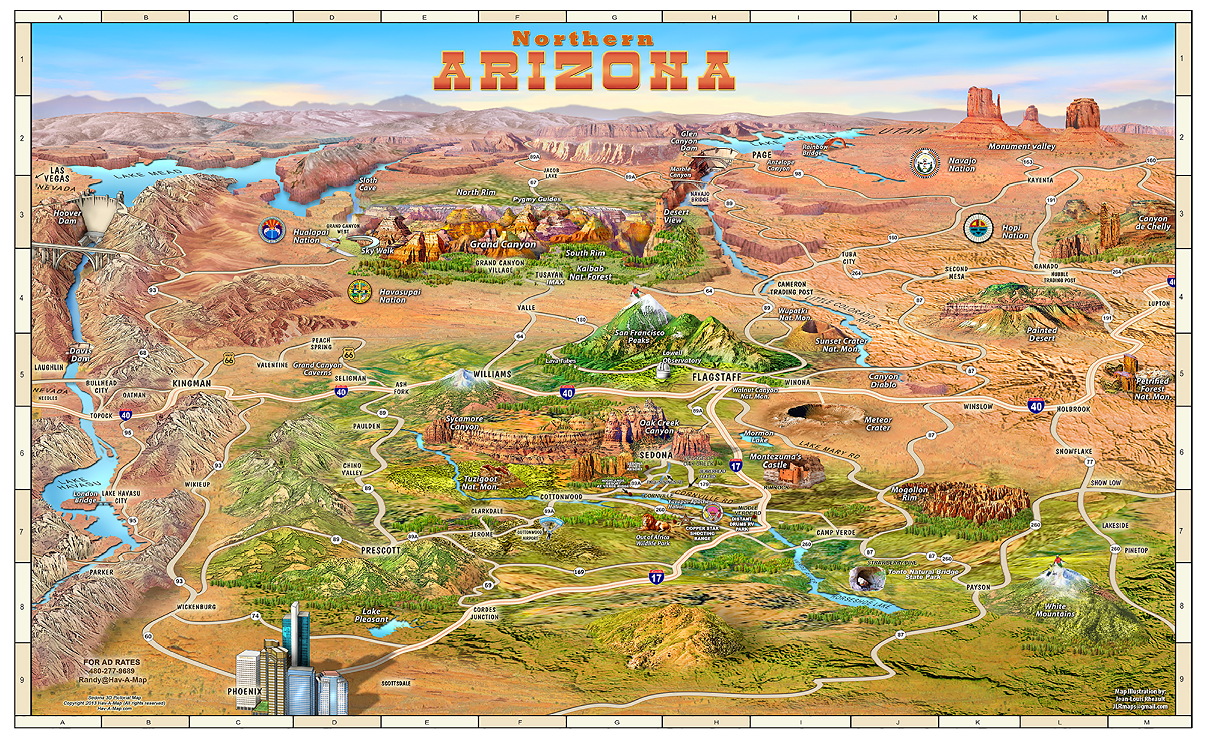 Map Of Sedona Location of El Portal | Sedona Maps
