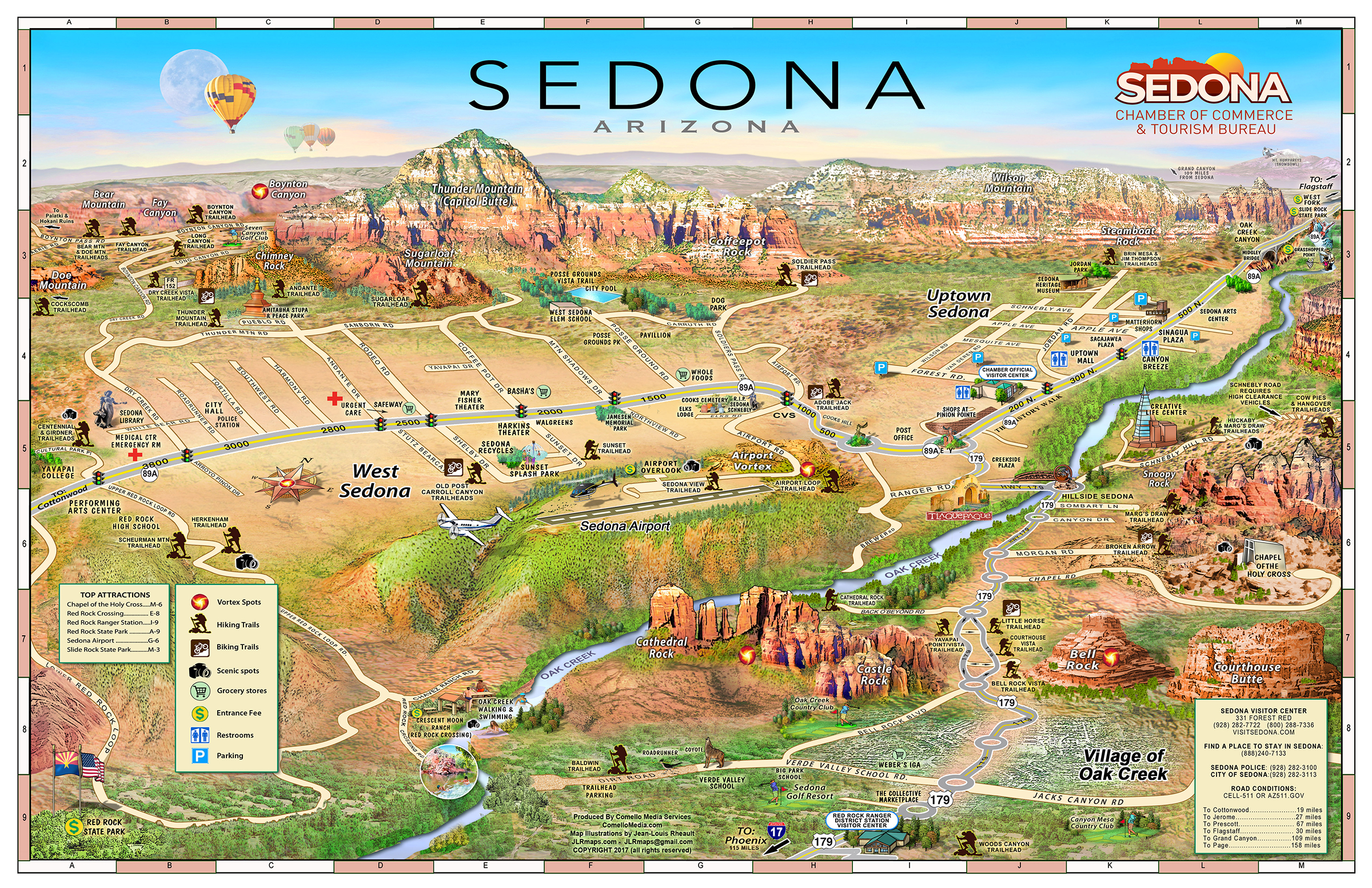 Map Of Arizona Including Sedona.Location Of El Portal Sedona Maps