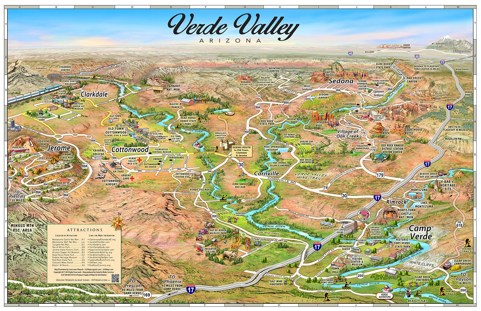 Map Of 89a Arizona.Location Of El Portal Sedona Maps