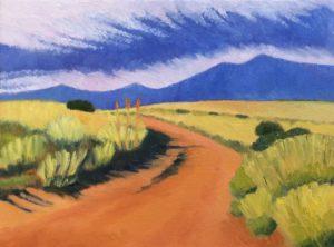 Sedona Open Studios Tour - Ramona Stites - Back Road Oil Painting - El Portal Sedona